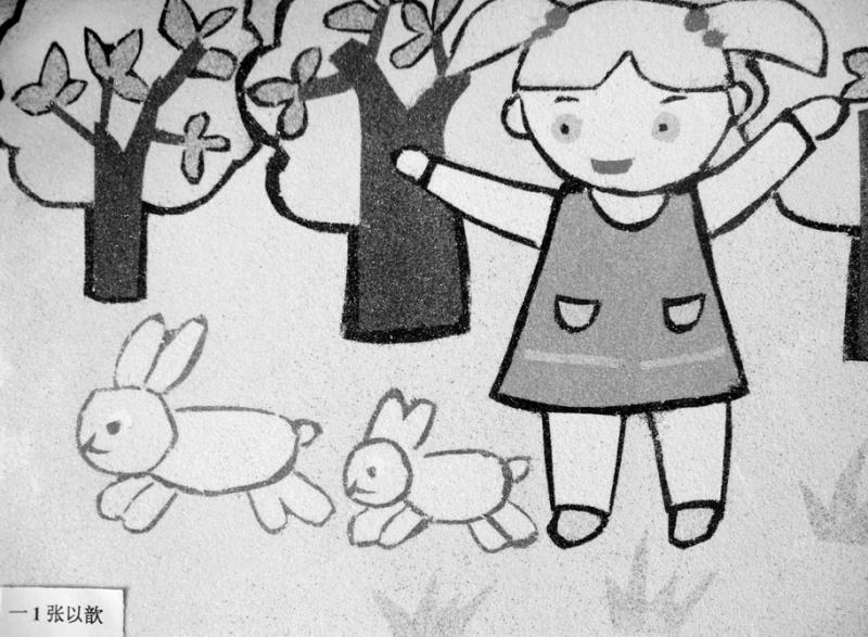 快乐六一简笔画-铁路乘务员的卡通头像
