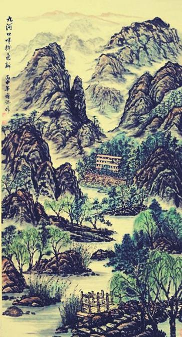 翰墨抒发爱党情 丹青描绘新农村